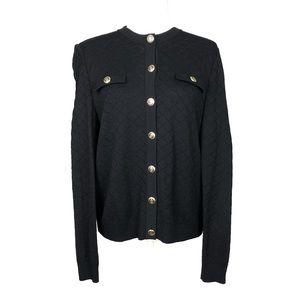 St. John Basics | Button Down Long Sleeve Cardigan